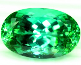 39.80 cts Oval Cut Green Spodumene Gemstone From Afghanistan (P)