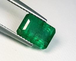 """2.41 ct """" IGI Certified """" Rare Green Emerald Cut Natural Emerald"""