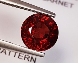 2.44 ct Amazing Deep Red Round Cut Pyrope Almandite Garnet