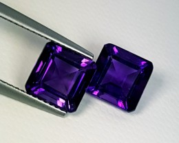 """5.31 ct """"IGI Certified"""" Pair of Lovely  Purple Square Cut Bolivia"""