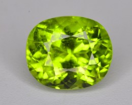 2.80 Ct Brilliant Color Olive Green Peridot ~ RA