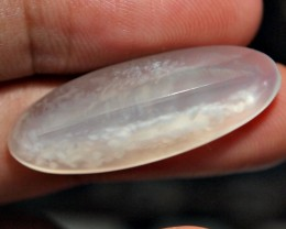 24.25CRT NATURAL CRYSTAL CALCEDONY WHITE CLOUD MOTIF