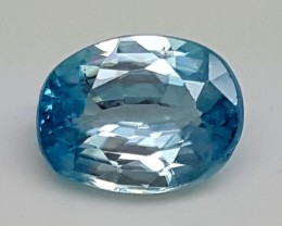 3.20Crt Natural Blue Zircon Best Grade Gemstones JI 20