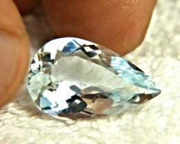 8.05 Carat Pear Cut VVS Himalayan Aquamarine - Gorgeous