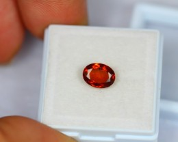1.59Ct Natural Hessonite Garnet Oval Cut Lot GW1148