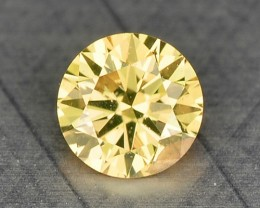 0.07 Cts Natural Yellow Diamond Round Africa