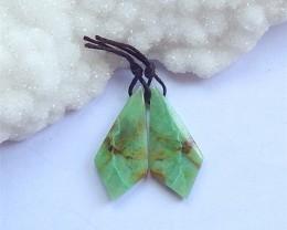 25ct Natural Beautiful Chrysocolla Earring Pair(18041116)