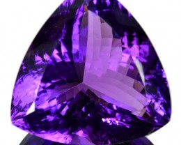 ~JEWELRY GRADE~ 82+ Cts Natural AAA Purple Amethyst Trillion Cut Bolivia