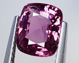"""1.70 ct """"IGI Certified"""" Top Luster Cushion Cut Natural Spinel"""