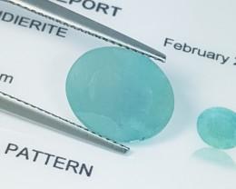 4.93 ct IGI Certified  Rare Bluish Green Oval Cut Natural Grandidierite