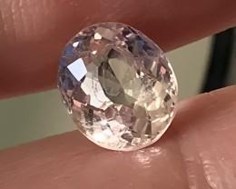 1.33ct Natural Silver Morganite Included Gem