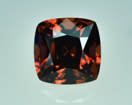 3.36 Cts Stunning Perfect Cushion Cut Garnet