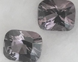 Luminous Silvery Grey 1.75 ct Spinel Pair - Burma F32