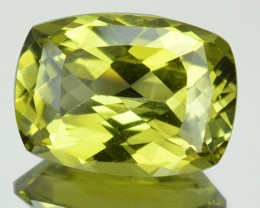 3.33 Cts Natural Lime Green Chrysoberyl Cushion Cut Sri Lanka
