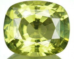 2.96 Cts Natural Lime Green Chrysoberyl Cushion Cut Sri Lanka