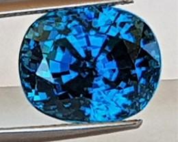 10.50cts, Blue Zircon,  Bright Glowing sweet blue