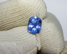 UNHEATED CERTIFIED 1.51 CTS NATURAL BEAUTIFUL BLUE SAPPHIRE CEYLON SRI LANK