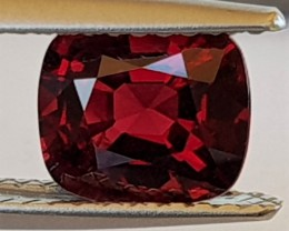 1.76cts Burma Red Spinel,  100% Untreated,