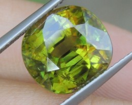 7.89cts Sphene,   TOP COLOR,  Green,   Rare