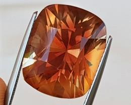 16.34cts Certified Oregon Sunstone,   Top Brilliant Cut,  Untreated
