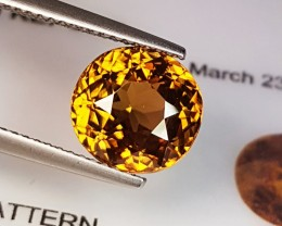 "4.63 ct ""IGI Certified"" Fantastic Yellowish Brown Oval Cut Natura"