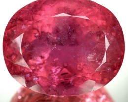 ~COLLECTIBLE~ 44.39 Cts Natural Reddish Pink Rubelite Tourmaline Oval Afgha