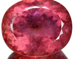 ~COLLECTIBLE~ 58.25 Cts Natural Reddish Pink Rubelite Tourmaline Oval Afgha