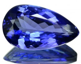 8.79 Cts Natural Purple Blue Tanzanite Pear Cut Tanzania