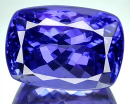 9.29 Cts Natural Purple Blue Tanzanite Cushion Cut Tanzania