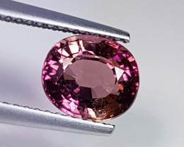 2.07 ct Top Luster Purplish Pink Oval Cut Natural Tourmaline