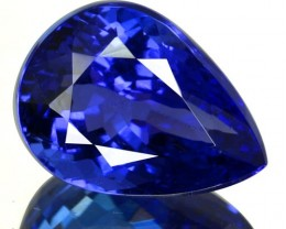 7.33 Cts Natural Purple Blue Tanzanite Pear Cut Tanzania
