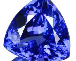 6.74 Cts Natural Purple Blue Tanzanite Trillion Cut Tanzania