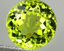 1.50 cts round 7.00 mm High Best Natural Apple Green Pakistan Peridot