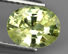 1.40 CTS.REMARKABLE! OVAL FACET-LEMON YELLOW CHRYSOBERYL  NATURAL NR!