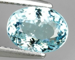 2.00 Cts STUNNING RARE NATURAL LUSTER OVAL SHAPE BLUE AQUAMARINE NR!