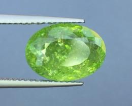 Certified 5.13 Ct Paraiba Tourmaline Attractive Lemon Green  Color ~ Mozamb