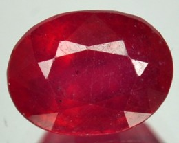 3.45 Cts Natural Blood Red Ruby Oval Cut Thailand Gem
