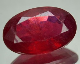 3.20 Cts Natural Blood Red Ruby Oval Cut Thailand Gem