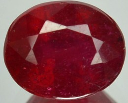 2.90 Cts Natural Blood Red Ruby Oval Cut Thailand Gem