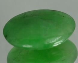 1.01 Cts Natural Green Jade Cabochon Burmese Gem