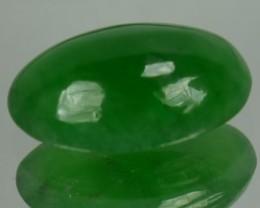 1.41 Cts Natural Green Jade Cabochon Burmese Gem