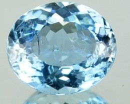 1.24 Cts Natural Blue Aquamarine Oval Cut Thailand Gem
