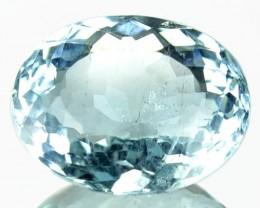 3.95 Cts Natural Sea Blue Aquamarine Oval Cut Brazil Gem