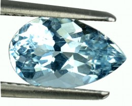 1.98 Cts Natural Sea Blue Aquamarine Pear Cut Brazil Gem