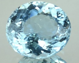 1.54 Cts Natural Sea Blue Aquamarine Oval Cut Brazil Gem