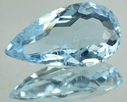2.32 Cts Natural Sea Blue Aquamarine Pear Cut Brazil Gem