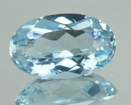 1.39 Cts Natural Sea Blue Aquamarine Oval Cut Brazil Gem