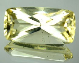 7.05 Cts Natural Mint Yellow Scapolite Cushion Princess Cut Tanzanian Gem