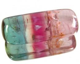11.33 Ct Sparkling !! Beautiful Tri Color Tourmaline  Cushion Brazil !!!