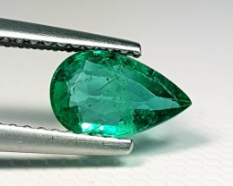 0.87 ct AAA Grade Green Pear Cut Natural Emerald
